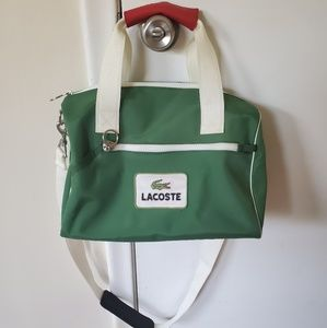Lacoste Vintage Green & White Duffle Gym Bag